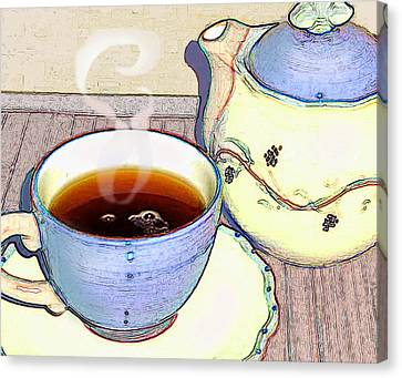 Canvas Print featuring the photograph Tea For One by Ginny Schmidt
