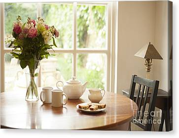 Tea For Two Canvas Print by Anne Gilbert