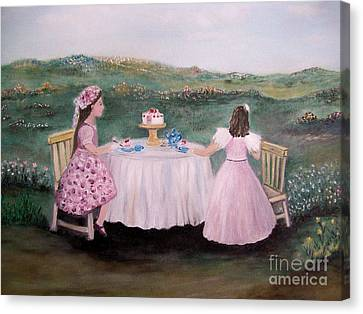 Tea For Two Canvas Print by Rhonda Lee