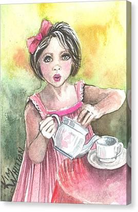Tea Granny Canvas Print
