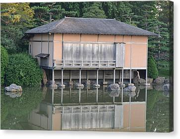 Tea House Reflections Canvas Print by Bill Mock