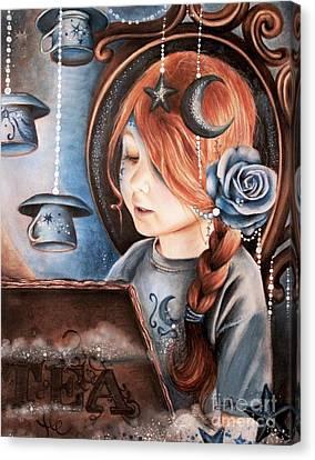 Tea In The Moonlight Canvas Print