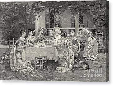 Tea Party 1887 Canvas Print by Padre Art