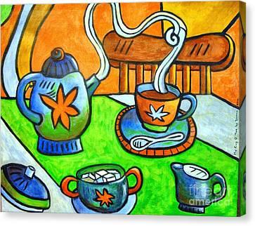 Tea Party Canvas Print - Tea Party by Doreen Kirk