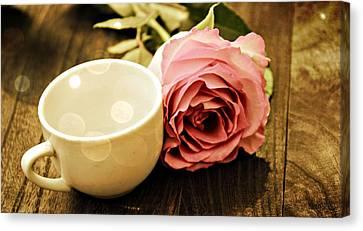 Tea Petals Canvas Print