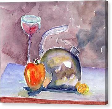 Tea Pot Canvas Print by Marsden Burnell