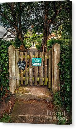 Tea Room Gate Canvas Print by Adrian Evans