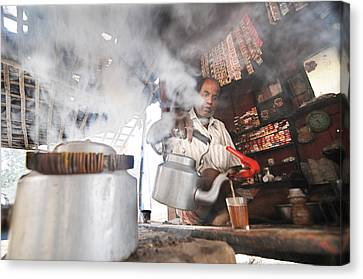 Tea Seller Canvas Print by Money Sharma