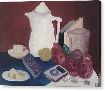 Canvas Print featuring the painting Tea Time by Darlene Berger