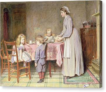 Tea Time Canvas Print by George Goodwin Kilburne