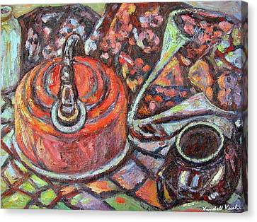 Tea Time Canvas Print by Kendall Kessler