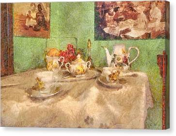 Tea Time  Canvas Print by L Wright