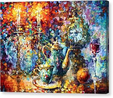 Tea Time Canvas Print by Leonid Afremov