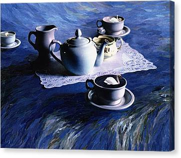 Tea Time With Gordy, 1998 Paper Mosaic Collage Canvas Print