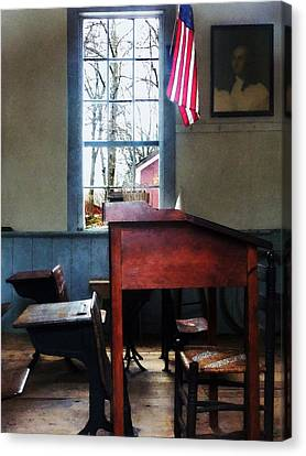 Teacher - Schoolmaster's Desk Canvas Print
