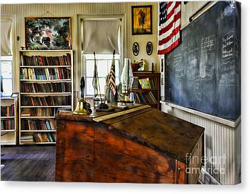 Old School Houses Canvas Print - Teacher - Vintage Desk by Paul Ward