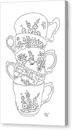 Teacup Tremble Canvas Print by Roisin O Farrell