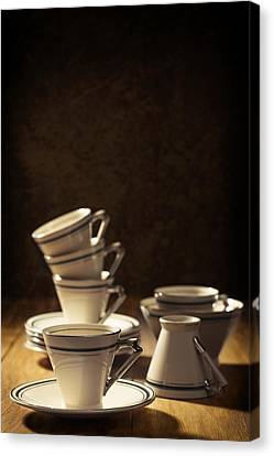 Teacups Canvas Print by Amanda Elwell