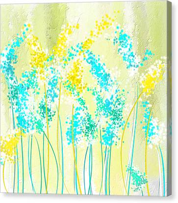 Teal And Graces Canvas Print
