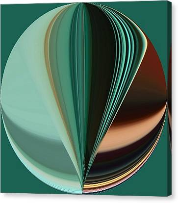 Teal Aqua Seven Duvet Size Canvas Print by Kathy K McClellan