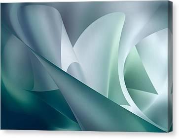 Teal Beam Canvas Print