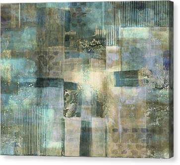Teal Luminous Layers Canvas Print by Lee Ann Asch