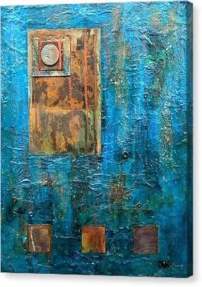 Teal Windows Canvas Print by Debi Starr