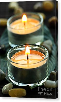 Tealights Canvas Print by Elena Elisseeva