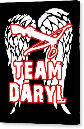 Team Daryl Canvas Print by Jera Sky