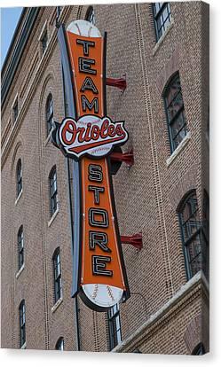 Team Orioles Store Sign Canvas Print by Susan Candelario