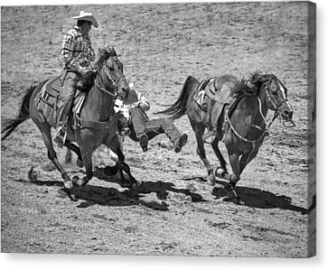 Team Roping Canvas Print by Dianne Arrigoni