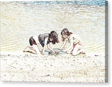 Team Work Canvas Print by Elaine Teague