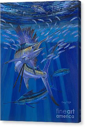 Swordfish Canvas Print - Team Work Off0036 by Carey Chen