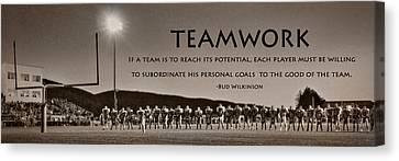 Teamwork Canvas Print by Lori Deiter