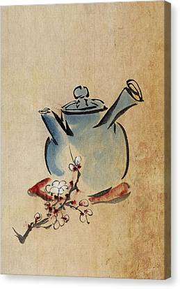 Teapot Canvas Print by Aged Pixel
