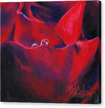 Tear Drops Of Love Canvas Print by Billie Colson