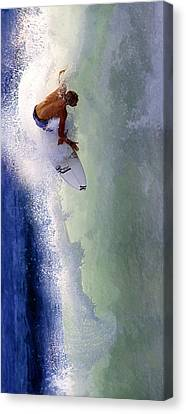 Tearing Up Trestles Canvas Print by Ron Regalado
