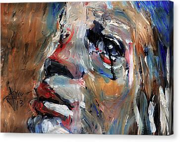 Tears As Black As Ink Canvas Print