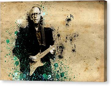 Eric Clapton Canvas Print - Tears In Heaven by Bekim Art