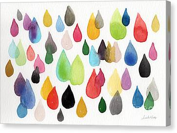 Water Drops Canvas Print - Tears Of An Artist by Linda Woods
