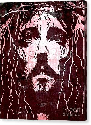 Tears Of Jesus Canvas Print by Michael Grubb