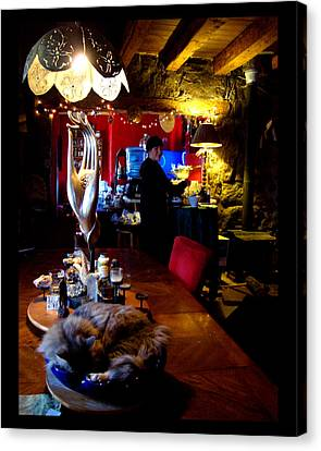 Canvas Print featuring the photograph Teatime In The Lodge by Susanne Still