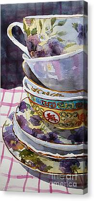 Teatime Canvas Print by Marisa Gabetta