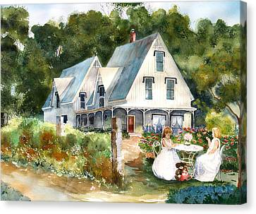 Teatime Canvas Print by Susan Crossman Buscho