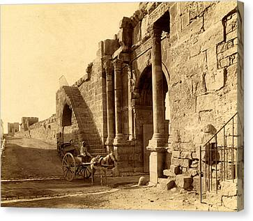 Caracalla Canvas Print - Tebessa, Arch Of Caracalla And The Walls Of The Byzantine by Litz Collection