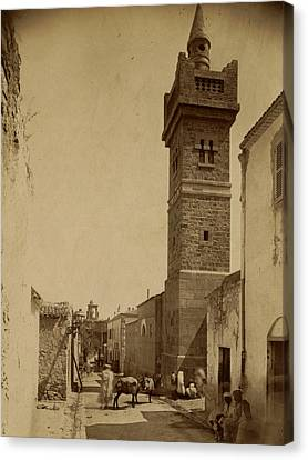 Caracalla Canvas Print - Tebessa Mosque Street Caracalla, Algiers, Neurdein Brothers by Litz Collection