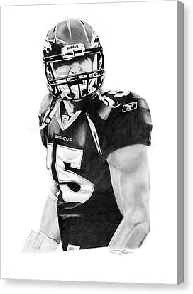 Tebow Canvas Print