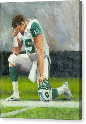 Tebowing Canvas Print by Joe Maracic