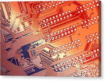 Tech Abstract Canvas Print by Tony Cordoza