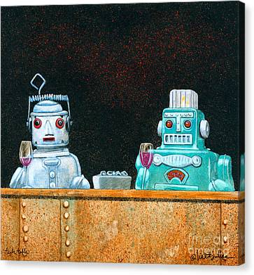 Tech Talk... Canvas Print by Will Bullas